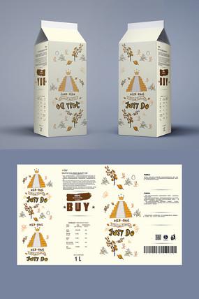时尚创意牛奶包装设计 AI