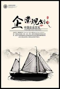 中国风企业文化展板之企业规划