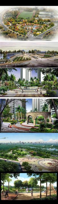 广场园林绿化景观效果图