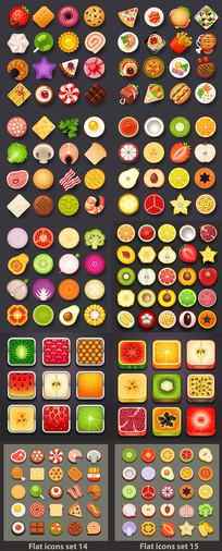 水果蔬菜食物APP图标设计