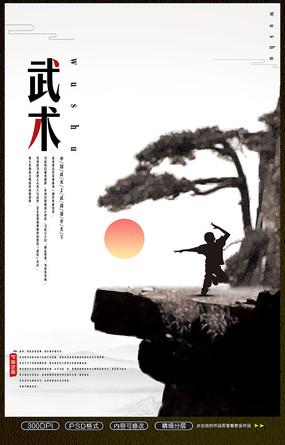 中国功夫武术海报