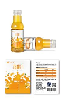 橘子味饮料包装 AI