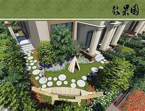 别墅私家花园效果图