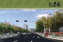 道路景观效果图 JPG
