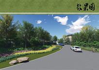 道路转角绿化 JPG