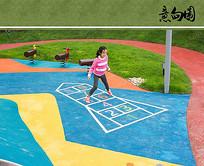 儿童体验区彩色沥青 JPG