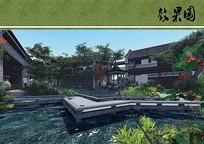 古典园林水景庭院 JPG
