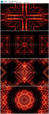红色舞台灯光背景视频