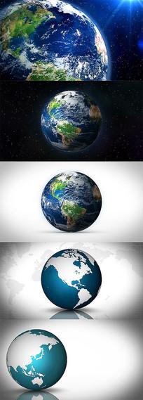 3D地球动画通道视频素材