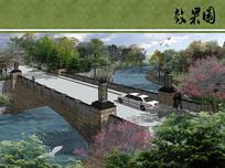 入口车行桥设计效果图 JPG