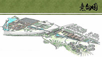 生态公园景观起步区手绘图