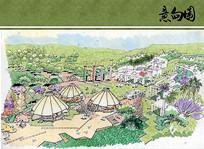 世界园艺博览会企业园区手绘