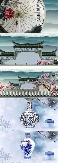 水墨 江南水乡 青花瓷 舞蹈视频
