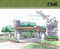 武夷茶博园广场廊架手绘 JPG
