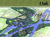 盐城湿地生态公园重点区域手绘