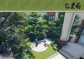 别墅花园游戏沙坑设计