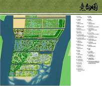 滨海湿地公园景观规划平面图