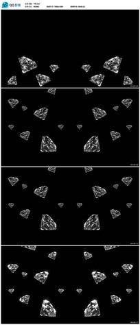 带透明通道钻石视频 mov