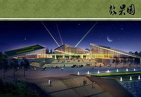 国际园林博览会园博馆夜景
