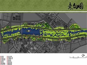 灞河公园景观彩平图