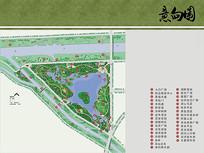 三角洲公园彩色总平面图