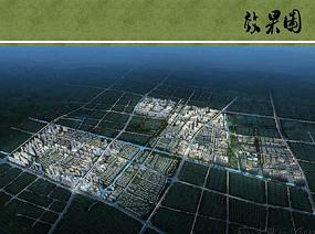上海北蔡综合旧片区规划鸟瞰图 JPG