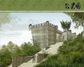 武夷茶博园观景台效果