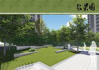 小区景观空间效果图 JPG
