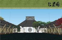 中式庭院效果图 JPG