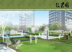 住宅区景观规划设计效果图