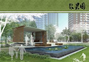住宅区景观庭院效果 JPG