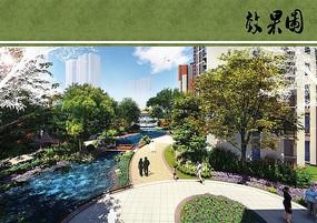 住宅区水景景观效果