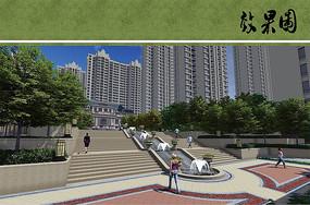 住宅区主入口广场效果图