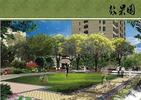 住宅区主入口景观设计效果图