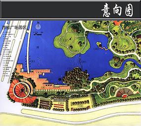某公园西部园区彩平图