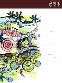 别墅景观手绘图