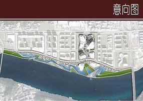 滨水广场彩平图