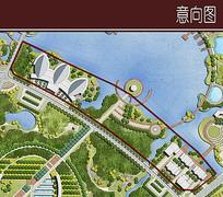 滨水景观节点放大图
