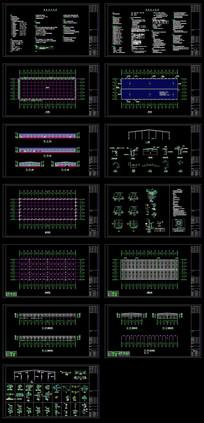 厂房钢结构CAD工程图 CAD