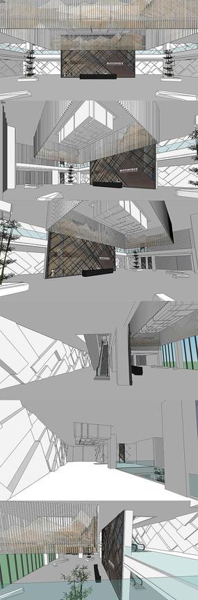 成果展示馆室内设计SU模型