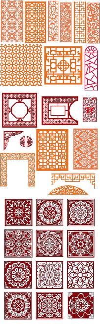 传统雕花纹