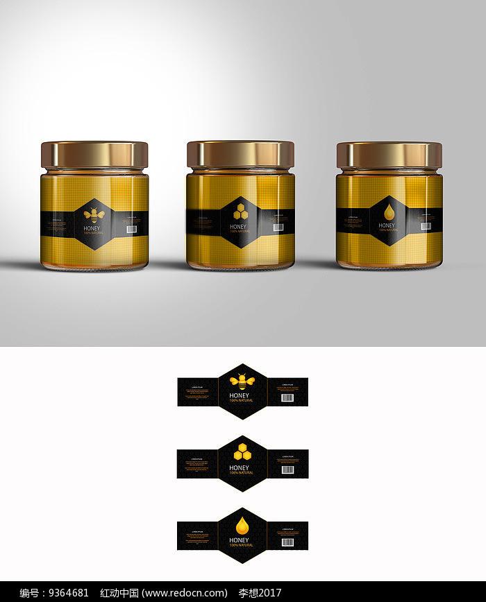 穿衣蜂蜜瓶贴包装图片