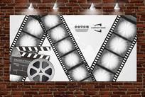 电影主题胶卷胶带企业文化墙