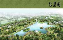 东升城市公园艺术公园鸟瞰