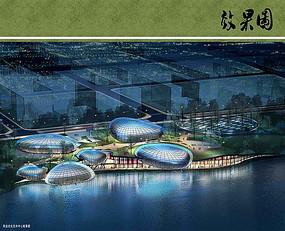 东升城市公园艺术中心夜景