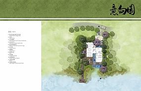 独栋别墅景观设计平面图