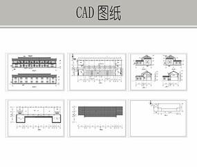 仿古建老人活动中心施工图