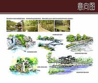 各种水景手绘设计 JPG