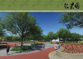 公园景观节点透视图