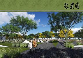 公园景观节点效果图